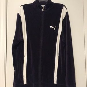 Puma velour zippered jacket. L